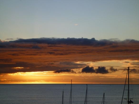 Sonnenuntergang Whitehills