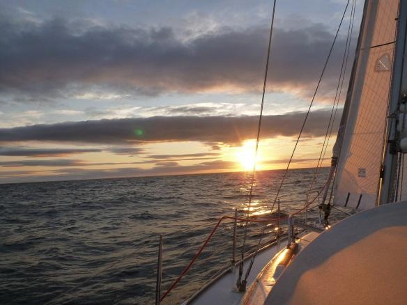 Sonneuntergang Überfahrt