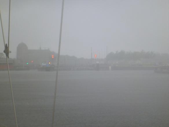 Veere Schleuse im Regen