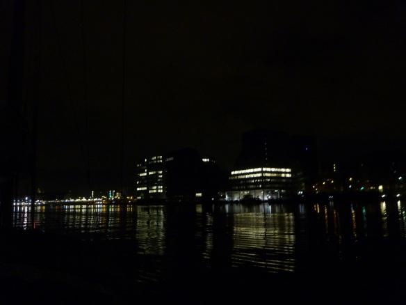 Nordseekanal bei Nacht