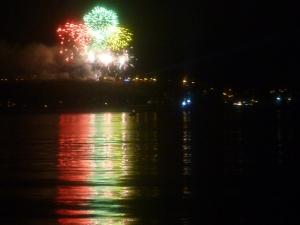 Feuerwerk zum französischen Nationalfeiertag