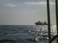 Versorgungsschiff einer Ölplattform