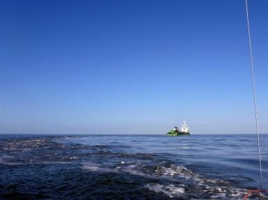 Baggerschiff vor Zeebrügge